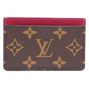 LV Monogram Classic Card Case Business Pass Wallet